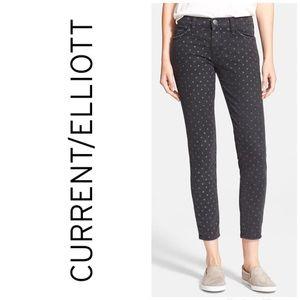 Current\Elliot NWT Stiletto Polka Dot Skinny Jeans
